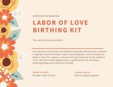 Labor of Love Birthing Kit