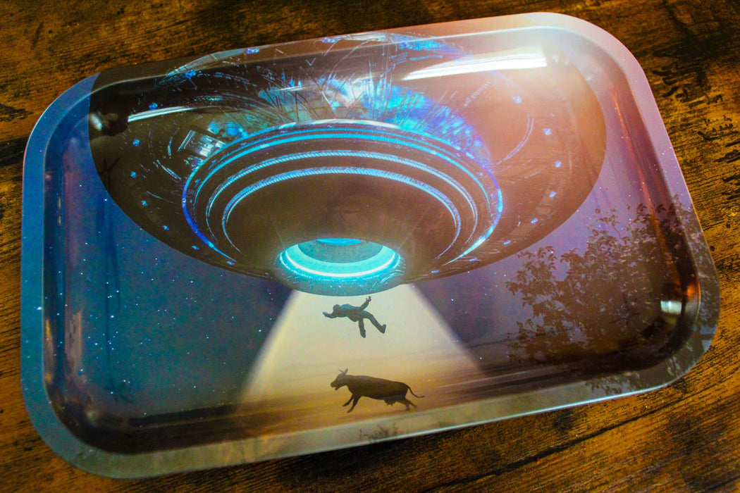 Alien Abduction Rolling Tray