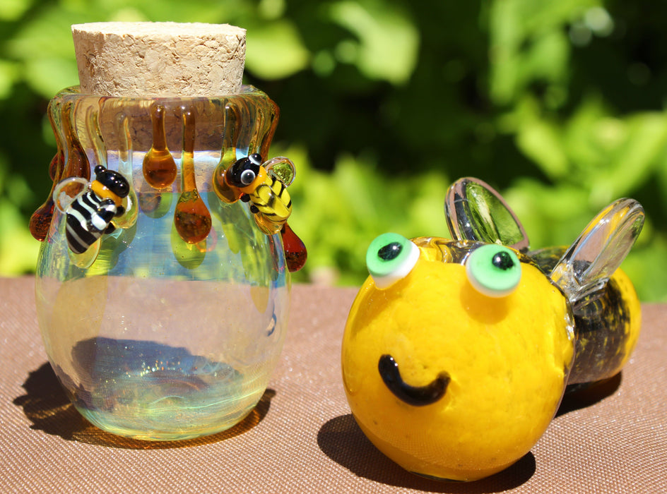 Honey Bee Stash Jar