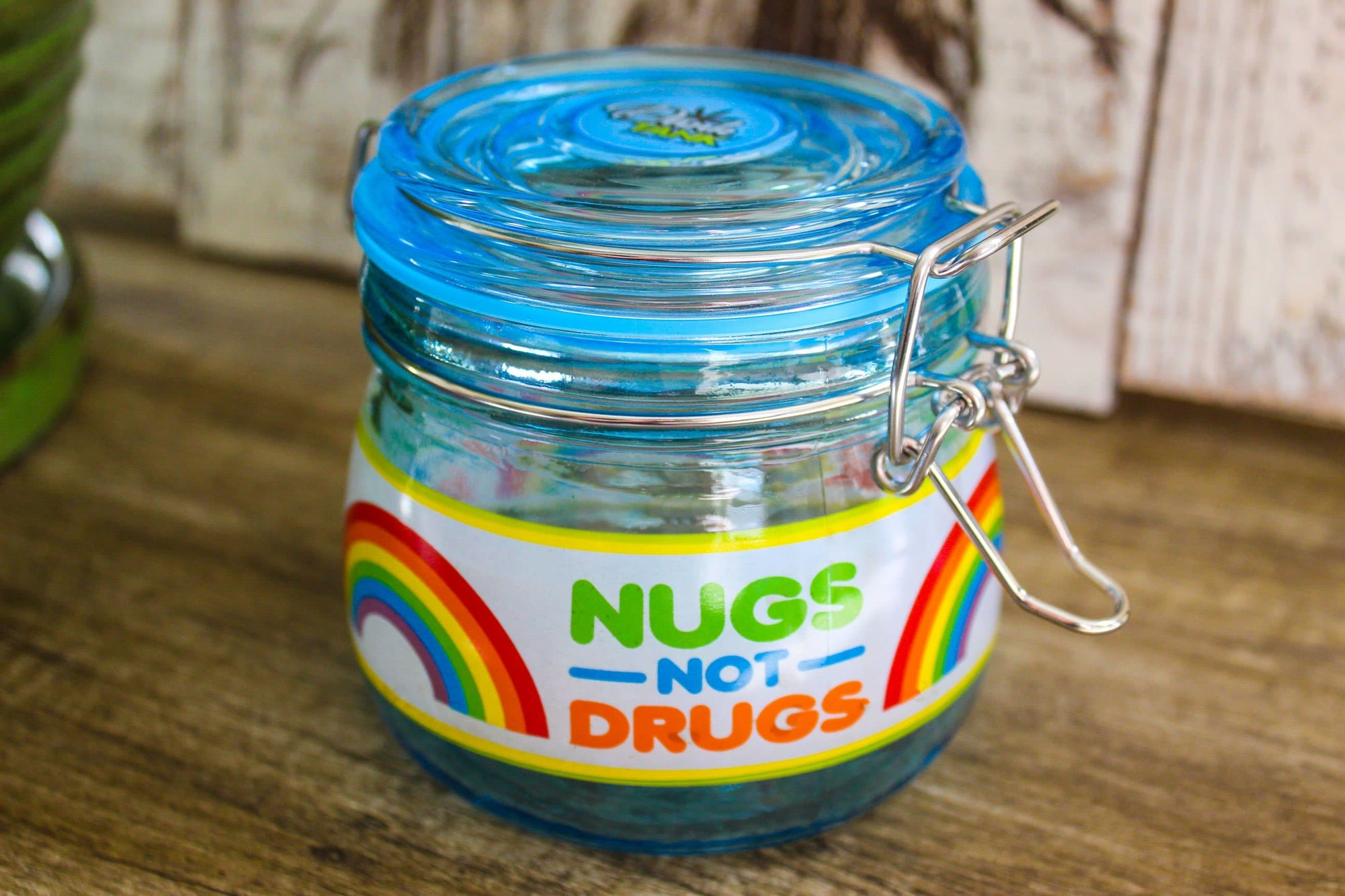 Nugs Not Drugs Stash Jar
