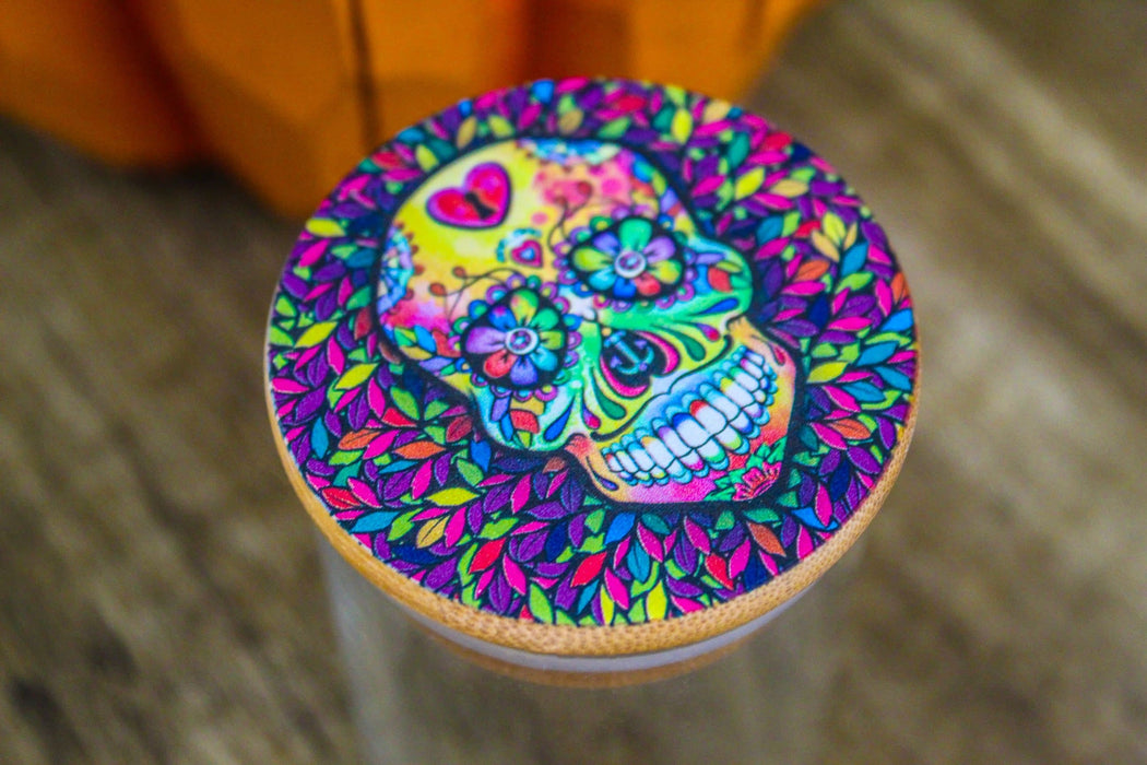 Sugar Skull Stash Jar
