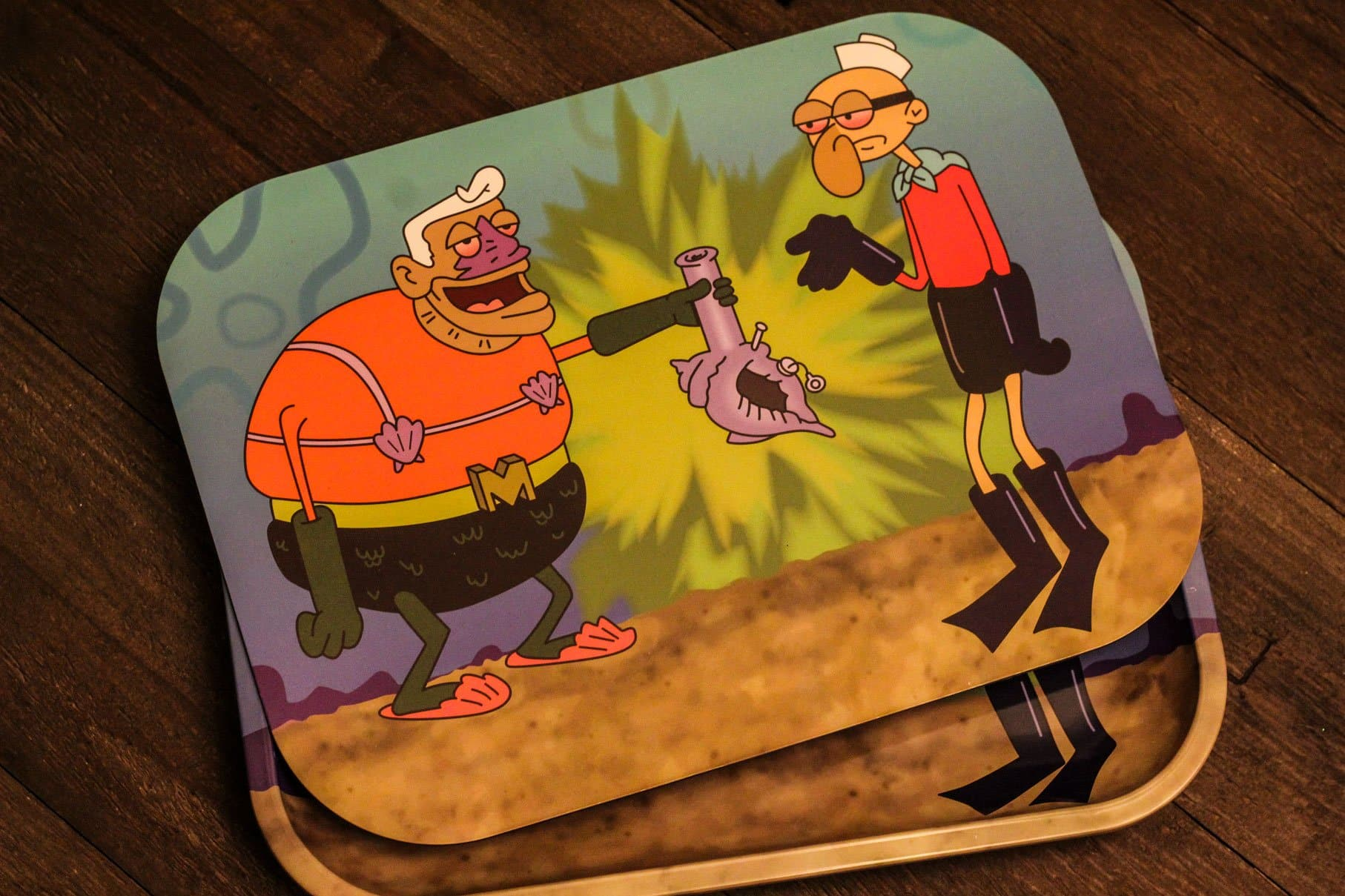 Mermaid Man and Barnacle Boy Rolling Tray