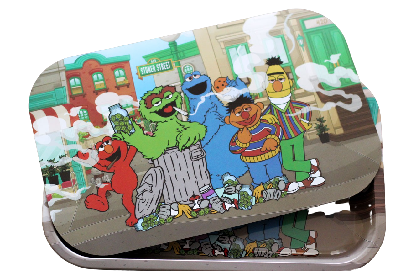 Stoned Sesame Street Magnetic Rolling Tray