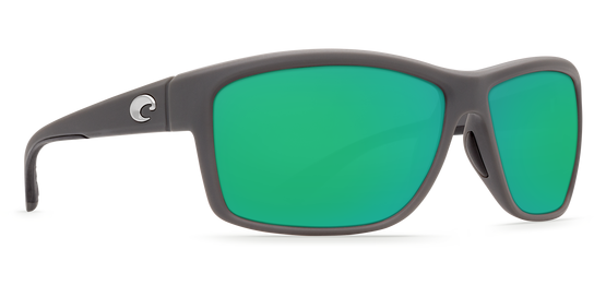 Costa Mag Bay Matte Gray, Green Mirror 580G Sunglasses, Glass