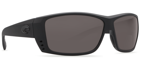 Costa Cat Cay, Black, Gray Mirror 580P Sunglasses, Plastic