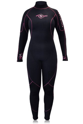 Aqua Lung Womens AquaFlex 7mm Back-Zip Scuba Diving Wet Jumpsuit