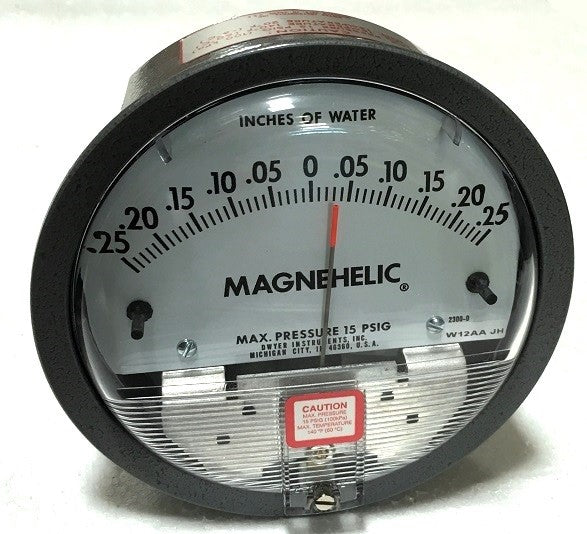Global Scuba Manufacturing Magnehelic Gauge ±5 Inch Scale