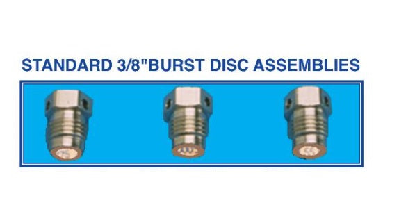 Trident 3500 PSI Burst Disc Assembly