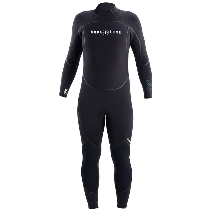 Aqua Lung Mens AquaFlex 3 mm Back-Zip Scuba Diving Wet Jumpsuit