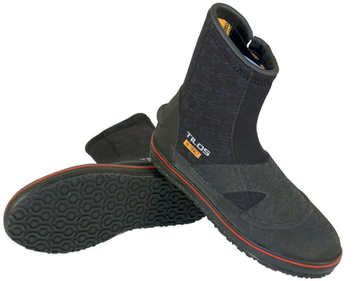 Tilos 6mm Thermowall Hi-Tract Semi-Dry Boots, Black