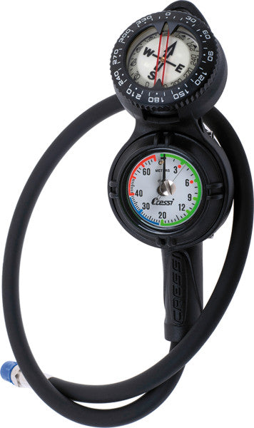 Cressi Console CPD3 (metric) Compass, Pressure Gauge and Depth Gauge