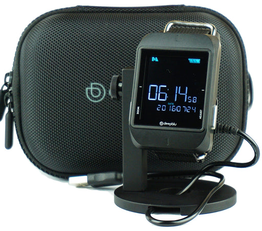 DeepBlu Cosmiq Bluetooth Wrist Dive Computer Air or Nitrox GUpG Watch Stand