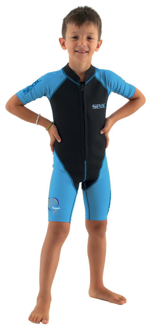 SEAC Dolphin Kids Shorty Wetsuit 1.5mm Neoprene & Lycra for Swimming Snorkelling