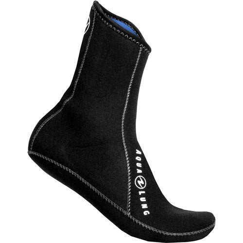 Aqua Lung 3mm Ergo Neoprene High Top Socks, Black