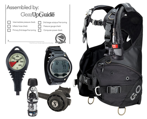 Scubapro Travel Scuba Diving Gear Package GO BCD w/ AIR2 5th Gen MK2 EVO Regulator Aladin Sport Dive Computer Certified Assembly by GUPG