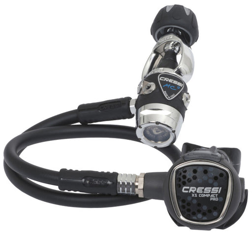 Cressi MC9 Compact Pro Regulator Package w/ Compact Octo, Leonardo C2 OR Mini PD2 OR Mini SPG PSI & GupG Regulator Bag