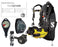 Scubapro Women's Inovate Scuba Diving Gear Package Hydros BCD with Air Source MK2 EVO Regulator Aladin Sport Dive Computer Certified Assembly by GUPG