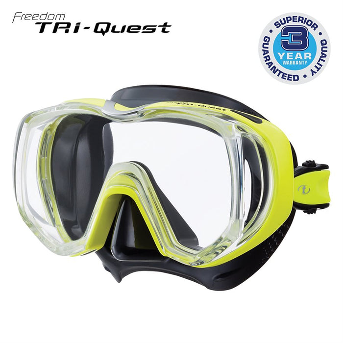 Tusa Freedom Tri-Quest SCUBA Diving Mask