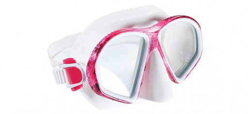 Tilos Spawn Mask and Diver Sleek Dry Snorkel Set, Pink Camo