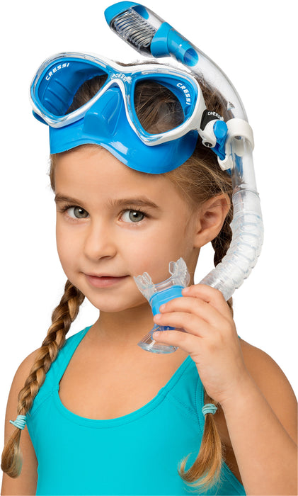 Cressi Marea Jr (Colorama Edition) & Mini Dry Masks & Snorkels Combo