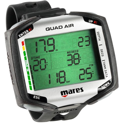 Mares Quad Air Scuba Diving Wrist Computer w/ LED Tank Module