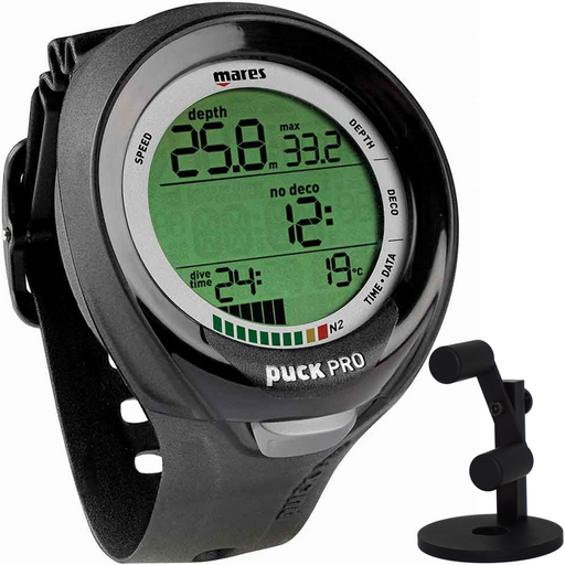 Mares Puck Pro+ Scuba Diving Wrist Computer with Watch Stand