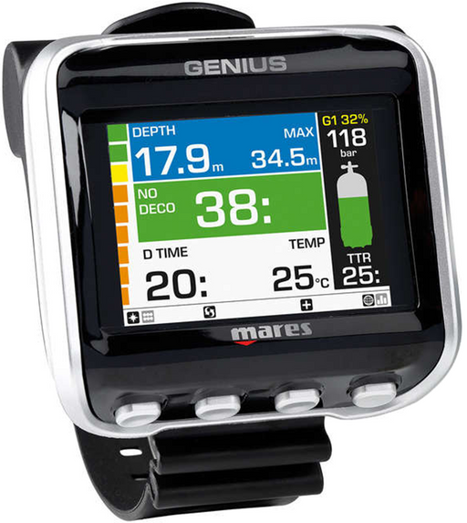 Mares Genius Scuba Diving Wrist Computers w/ LED Tank Module