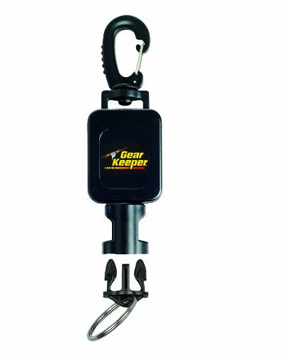 Gear Keeper RT4-5912 Small Flashlight Retractor Large Heavy Duty Snap Clip Mount with QCII Split Ring
