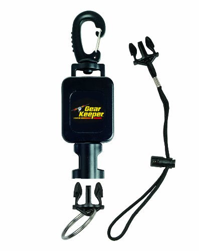 Gear Keeper RT4-5913 Compact Console Retractor Large Heavy Duty Snap Clip Mount with QCII Split Ring & Lanyard