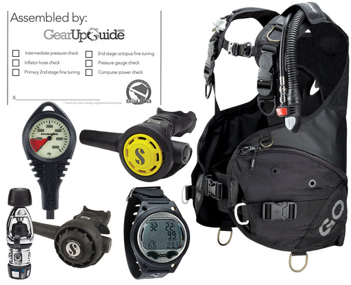Scubapro Travel Package GO BCD w/ Balanced Inflator MK2 EVO Regulator Aladin Sport Dive Computer Certified Assembly by GUPG
