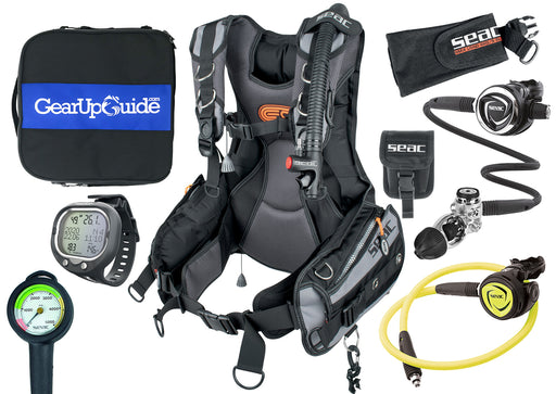 SEAC EQ-PRO BCD Premiere Package w/ Screen Wrist Computer, SPG, DX200 Regulator, X100 Octo & Bag Assembled by GUPG