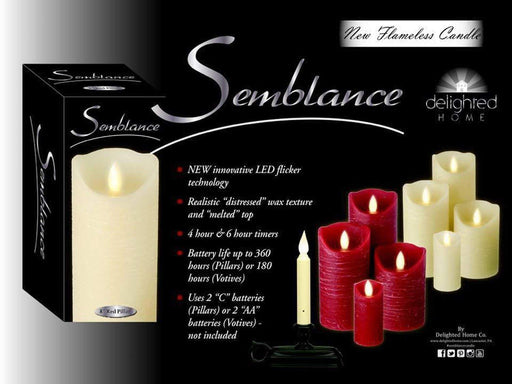 Delighted Home Flickering Flameless Candle 4 and 6-hour Timer Battery Operated Dancing LED Wax Votive Candle