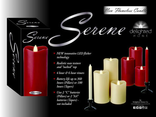 Delighted Home Flickering Flameless Candle 4 and 6-hour Timer Battery Operated Dancing LED Wax Pillar Candle