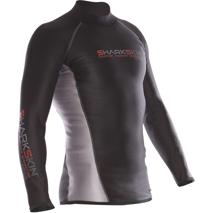 Sharkskin Mens Chillproof Long Sleeve, Black
