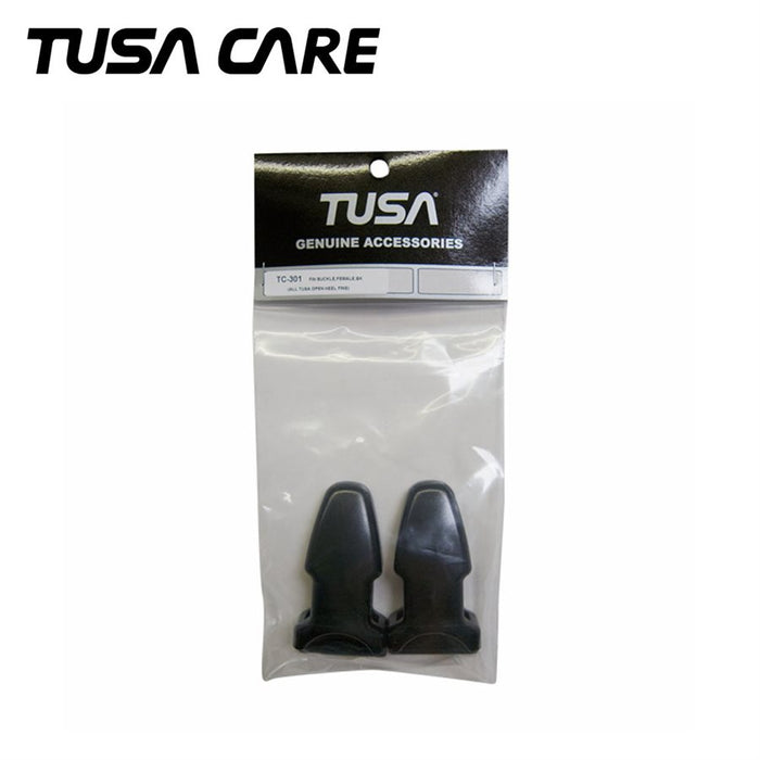 TUSA Fin Buckle for All TUSA Open Heel Fins, Female, Black