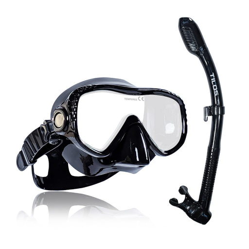 Tilos Visionary II Mask and Sleek Dry Snorkel Set