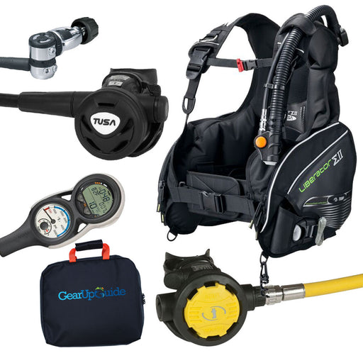 Tusa Liberator BC, Regulator & Octo w/ Element Digital Scuba Gear Computer Package