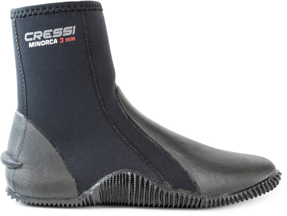 Cressi Minorca Tall 3mm Water Boots Black