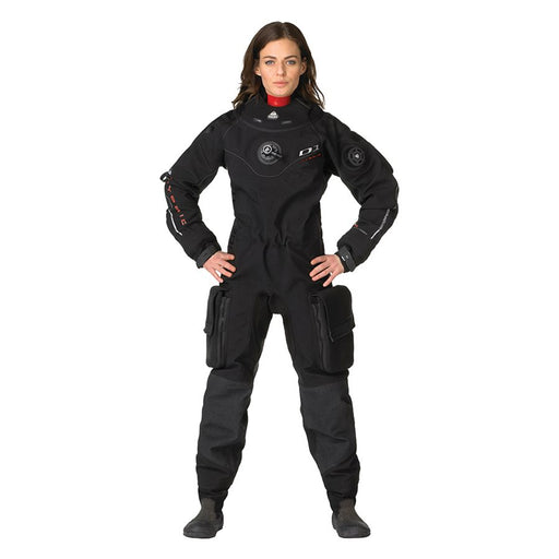 Waterproof Women's D1 Hybrid Drysuit with 3D-Mesh Lining & Integrated Silicone Seals