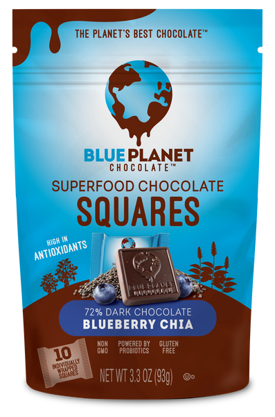 Superfood Chocolate Squares - Blueberry Chia