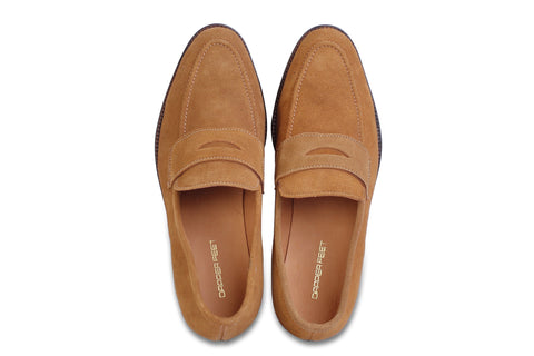 Rodio Suede Loafers - Tan - Dapperfeet