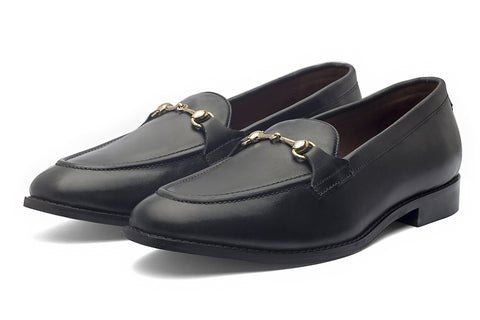 Charma Buckle Loafers – Black - Dapperfeet