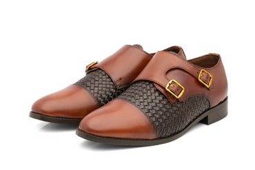 Borris Monk Straps - Cognac/Brown