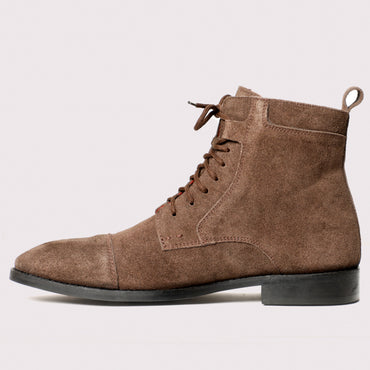 Brunello Suede Boots - Brown