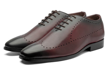 King Liam Oxfords - Cherry - Dapperfeet