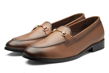 Charma Buckle Loafers - Tan - Dapperfeet