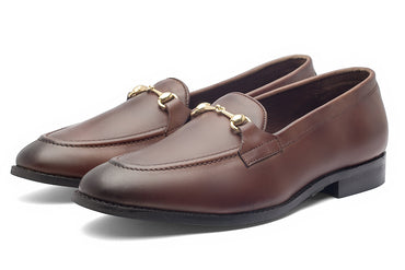 Charma Buckle Loafers – Brown - Dapperfeet