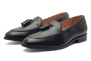 Wilson Tassel Loafers - Black - Dapperfeet