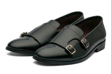 Jacob Monk Straps Printed - Black - Dapperfeet