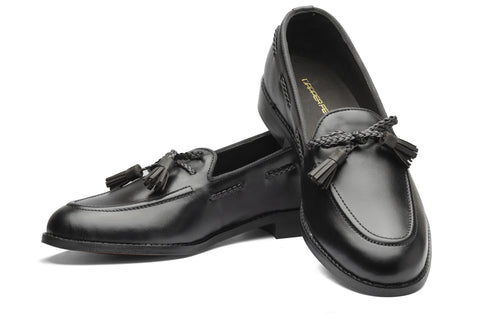 Winston Leather Knot Loafers - Black - Dapperfeet